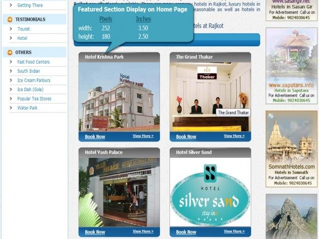 Featured Section Display on Home Page